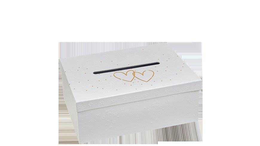 TRUBA Gutscheinbox für Geschenkgutscheine mit Schlitz Hochzeit