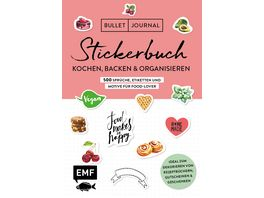 Bullet Journal Stickerbuch Kochen Backen Organisieren