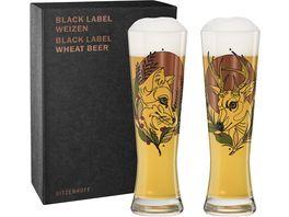 RITZENHOFF Black Label Weizenbierglas 2er T Tietchen F20