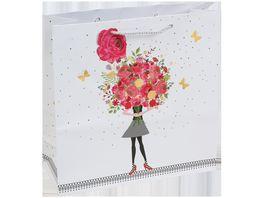 TRUBA Geschenktasche maxi mit Grussanhaenger Modern Roses