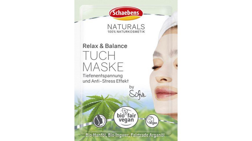 Schaebens Relax & Balance Tuchmaske, 1 Stück