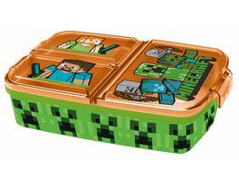 p os Handel Minecraft Sandwich Box dreigeteilt