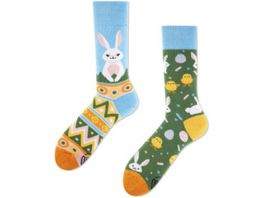 MANY MORNINGS Unisex Socken Easter Bunny