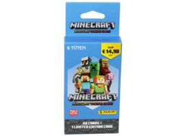 Panini Minecraft Adventure Trading Cards Eco Blister inkl 1 LE Card