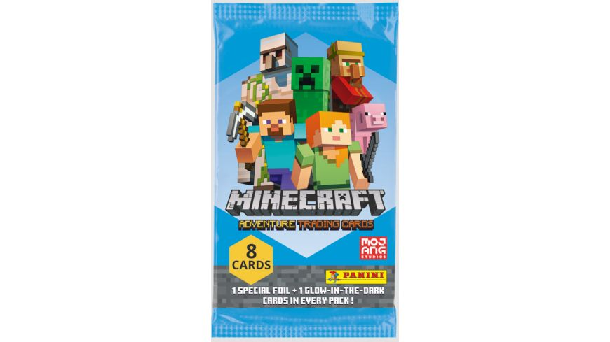 Panini - Minecraft Adventure Trading Cards - Flow Pack mit 8 Cards