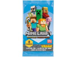 Panini Minecraft Adventure Trading Cards Flow Pack mit 8 Cards