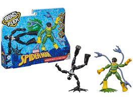 Hasbro Marvel Spider Man Bend and Flex Black Suit Spider Man gegen Doc Ock