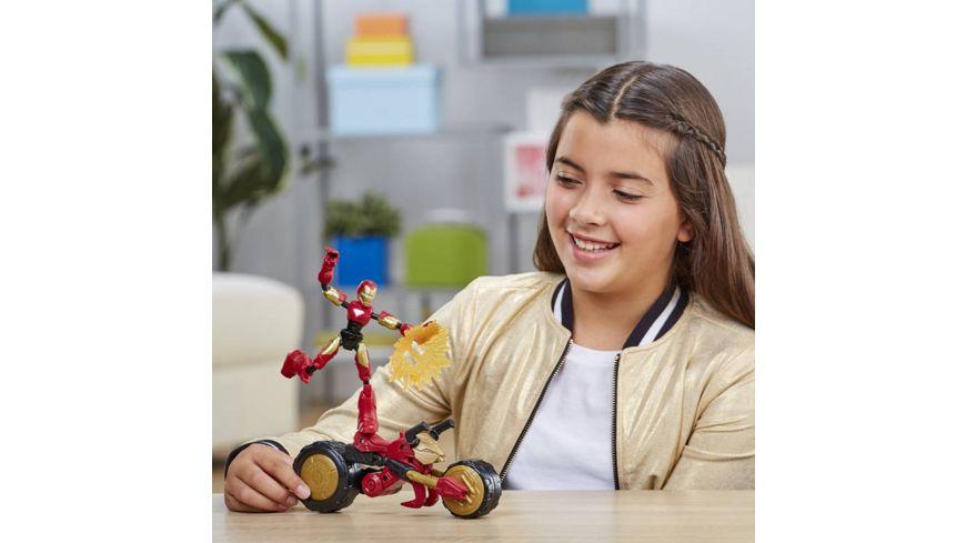Hasbro Marvel Bend and Flex Flex Rider Iron Man mit 2 in 1 Motorrad