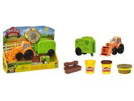 Hasbro Play Doh Wheels Traktor und Pferdeanhaenger