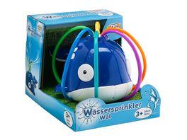 Mueller Toy Place Wassersprinkler Wal mit Stecker fuer Standard Gartenschlauch 2 fach sortiert 1 Stueck Wasserspielzeug