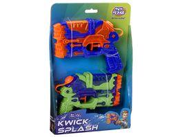 Mueller Toy Place 2 Wasserpistolen KWICK SPLASH Wasserspielzeug