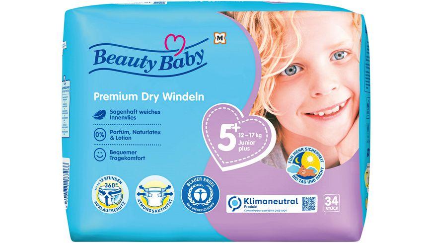 Beauty Baby Premium Dry Windeln, Größe 5 Junior, 12-17 kg