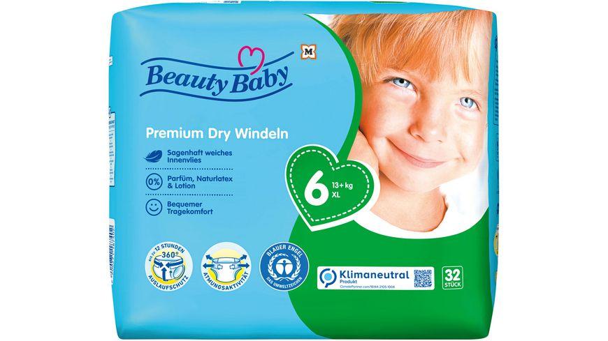 Beauty Baby Premium Dry Windeln, Größe 6 XL, 13 kg