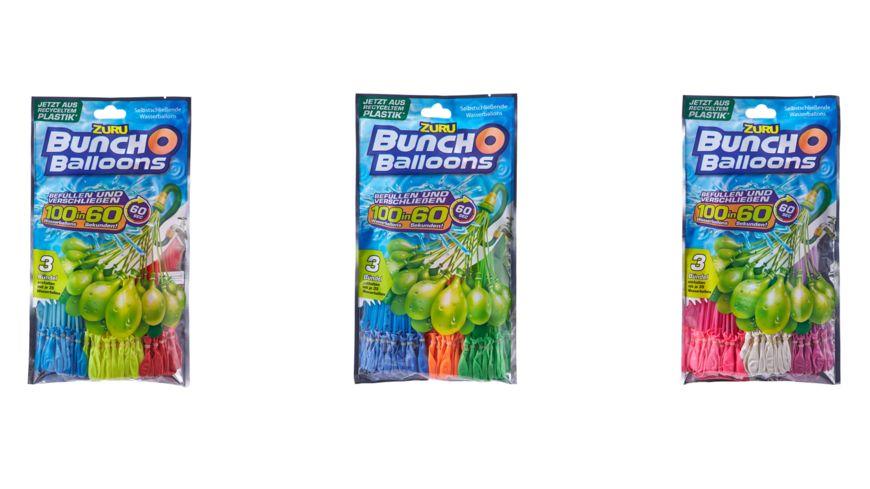 Zuru - Bunch O Balloons - 3er Pack, Wasserbomben