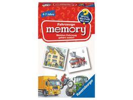 Ravensburger Spiel 80350 20647 Fahrzeuge memory Wieso Weshalb Warum der Spieleklassiker fuer 2 8 Spieler Kinderspiel fuer alle Fahrzeug Fans ab 4 bis 7 Jahren