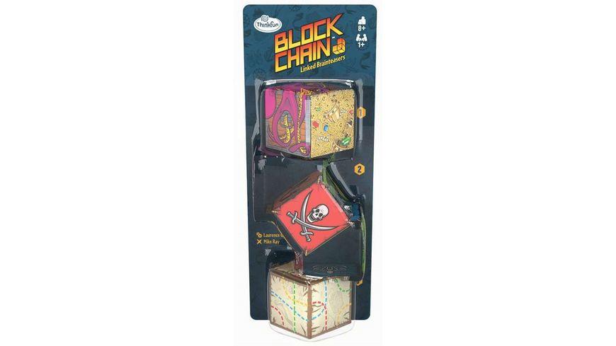 Thinkfun - 76424 - Block Chain: Piraten - Die neuen Brainteaser von ThinkFun für Mädchen und Jungen ab 8 Jahren. Gehirntraining mit Würfelketten, perfekt zum Mitnehmen und verschenken.