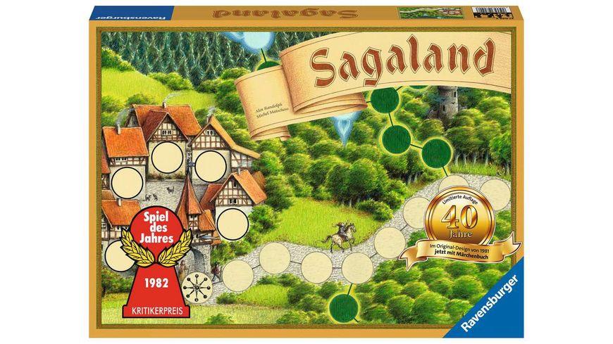 Ravensburger Spiel - Sagaland 40 Jahre Jubiläumsedition 27040 – Ein Spiele-Klassiker ab 6 Jahren, Familienspiel