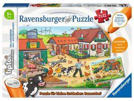 Ravensburger tiptoi 00066 Puzzle fuer kleine Entdecker Bauernhof Puzzle fuer Kinder ab 3 Jahren fuer 1 Spieler