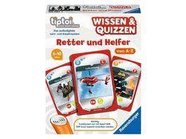 Ravensburger tiptoi 00081 Wissen und Quizzen Retter und Helfer Quizspiel fuer Kinder ab 6 Jahren fuer 1 6 Spieler