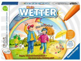 Ravensburger tiptoi 00074 Mein Wetter Lernspiel von Ravensburger ab 3 Jahren fuer 1 4 Spieler