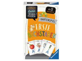 Ravensburger Spiel 80659 Lernen Lachen Selbermachen Erste Buchstaben Kartenspiel ab 5 Jahren Buchstaben ueben fuer 1 4 Spieler Lernspiel fuer die Kleinen