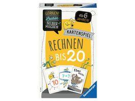 Ravensburger Spiel 80349 Lernen Lachen Selbermachen Rechnen bis 20 Kartenspiel ab 5 Jahren Plus und Minus Rechnen bis 20 fuer 1 5 Spieler Lernspiel fuer die Kleinen