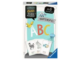 Ravensburger Spiel 80347 Lernen Lachen Selbermachen ABC Kartenspiel ab 5 Jahren Buchstaben lernen fuer 1 4 Spieler Lernspiel fuer die Kleinen mit verschiedenen Moeglichkeiten