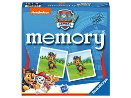 Ravensburger Spiel 20743 Paw Patrol memory der Spieleklassiker fuer alle Fans der TV Serie Paw Patrol Merkspiel fuer 2 8 Spieler ab 4 Jahren