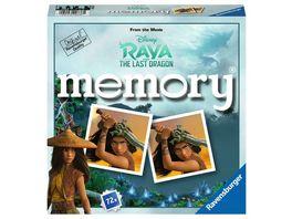 Ravensburger Spiel 20738 Disney Raya and the last Dragon memory der Spieleklassiker fuer alle Raya Fans Merkspiel fuer 2 8 Spieler ab 4 Jahren