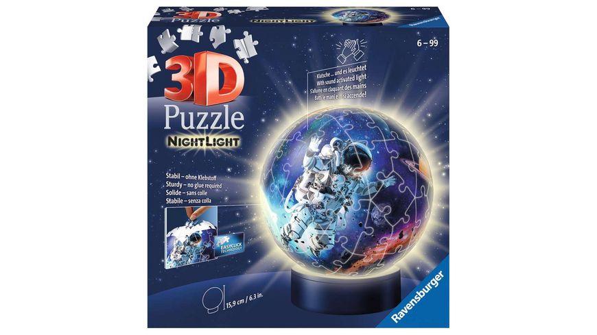 Ravensburger Puzzle - 3D Puzzle 11264 - Nachtlicht - Astronauten im Weltall - 72 Teile - ab 6 Jahren