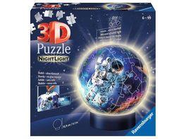 Ravensburger Puzzle 3D Puzzle 11264 Nachtlicht Astronauten im Weltall 72 Teile ab 6 Jahren
