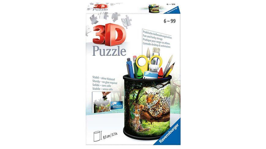 Ravensburger Puzzle - 3D Puzzle 11263 - Utensilo - Raubkatzen - 54 Teile - ab 6 Jahren