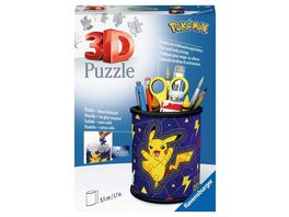 Ravensburger Puzzle 3D Puzzle 11257 Utensilo Pokemon Pikachu 54 Teile Stiftehalter fuer Pokemon Fans ab 6 Jahren