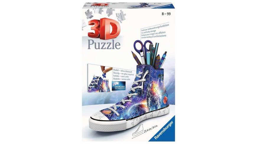 Ravensburger Puzzle - 3D Puzzle Sneaker Astronauten im Weltall 11251 - praktischer Stiftehalter im Weltraum Design - 108 Teile - ab 8 Jahren