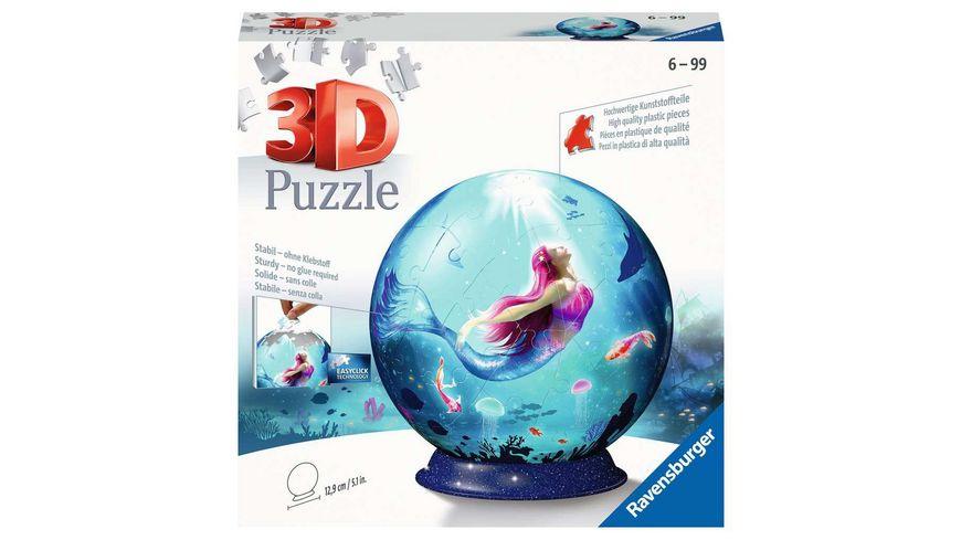Ravensburger Puzzle - 3D Puzzle Bezaubernde Meerjungfrauen 11250 - Puzzle-Ball - 72 Teile - ab 6 Jahren