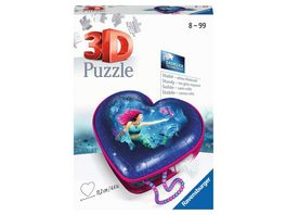 Ravensburger Puzzle 3D Puzzle 11249 Herzschatulle Bezaubernde Meerjungfrauen 54 Teile ab 8 Jahren