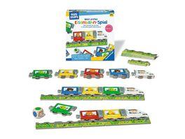 Ravensburger ministeps 4187 Mein erstes Eisenbahn Spiel Erstes Wuerfel und Puzzlespiel zum Farbenlernen Spielzeug ab 2 Jahre