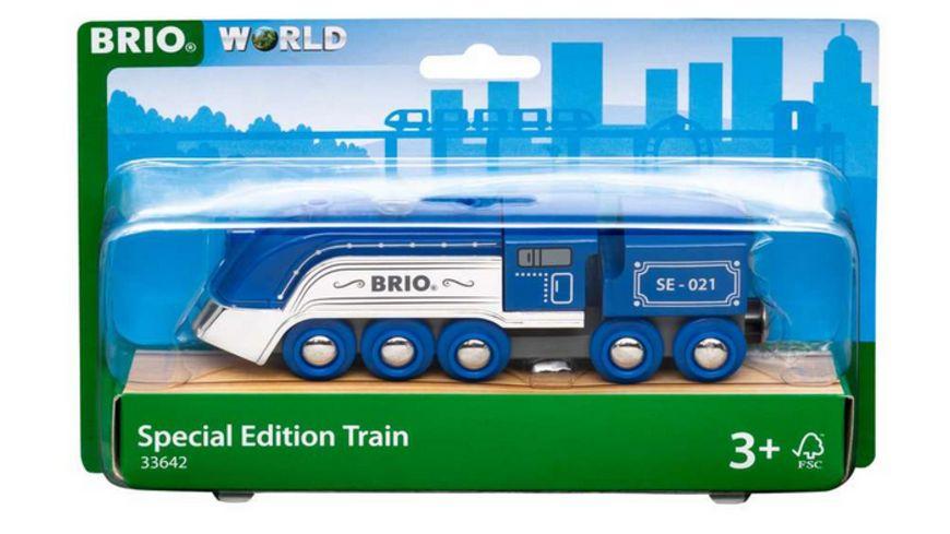 BRIO Bahn - 33642 Blauer Dampfzug Special Edition 2021 - Zubehör für die BRIO Holzeisenbahn - Empfohlen ab 3 Jahren