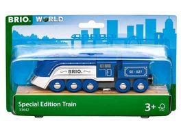 BRIO Bahn 33642 Blauer Dampfzug Special Edition 2021 Zubehoer fuer die BRIO Holzeisenbahn Empfohlen ab 3 Jahren