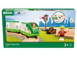 BRIO Bahn 33847 Starter Set Reisezug Einstieg in die BRIO Holzeisenbahn Empfohlen ab 3 Jahren