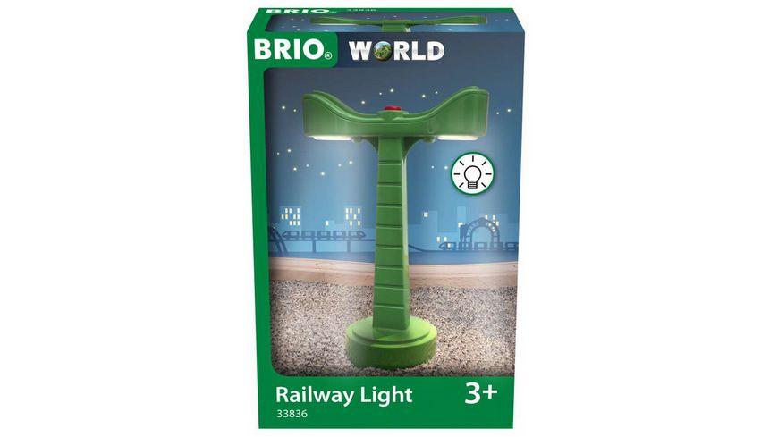 BRIO Bahn - 33836 LED-Schienenbeleuchtung - Zubehör für die BRIO Holzeisenbahn - Empfohlen ab 3 Jahren