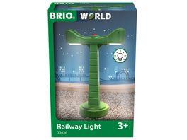 BRIO Bahn 33836 LED Schienenbeleuchtung Zubehoer fuer die BRIO Holzeisenbahn Empfohlen ab 3 Jahren