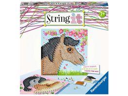 Ravensburger Beschaeftigung 18119 String it Midi Horses Kreative Fadenbilder mit suessen Pferden kinderleicht aus Kunststoffpins und buntem Faden