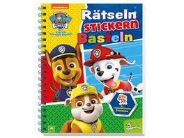 Paw Patrol Raetseln Stickern Basteln Mit farbenfrohen Stickern