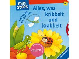 ministeps Buecher Alles was kribbelt und krabbelt Mein erstes Tier Spielbuch Ab 18 Monaten