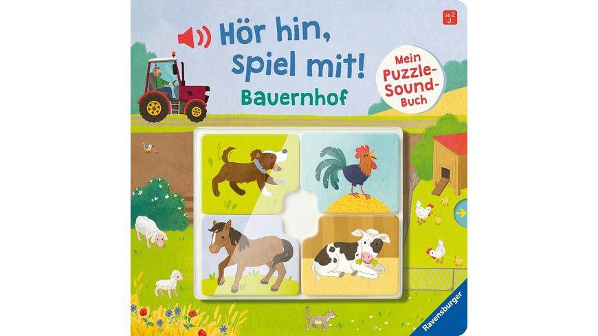 Hör hin, spiel mit! Mein Puzzle-Soundbuch: Bauernhof -  Kinderbuch