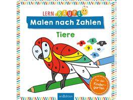 Lernraupe Malen nach Zahlen Tiere Kinderbuch