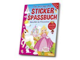 Das extragrosse Stickerspassbuch Prinzessin