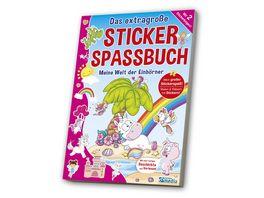 Das extragrosse Stickerspassbuch Einhoerner