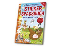 Das extragrosse Stickerspassbuch Tiere